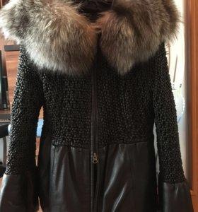 Куртка кожа +чернобурка натуралка