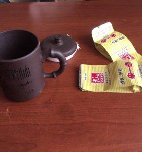 Глиняный стакан для чая