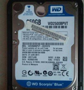 Жесткий диск 250 Гбайт