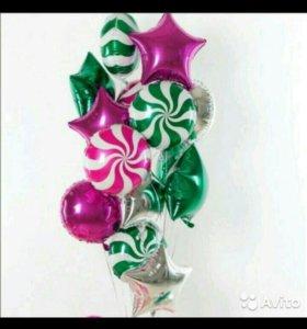 Букет фольгированный шаров с гелием
