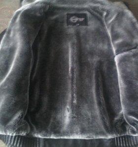 Зимняя, кожаная куртка