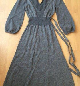 Вязаное серебрянное платье French Connection