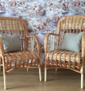 Плетёные кресла. Ручная работа