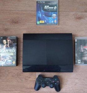 Sony PS3 Super Slim 500Gb + 11 Игр