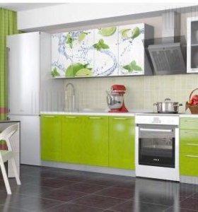 Кухня с фотопечатью Лайм 2 метра