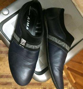 Ботинки туфли Мокасины мужские