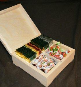 Шкатулка - коробка для чая с магнитом.