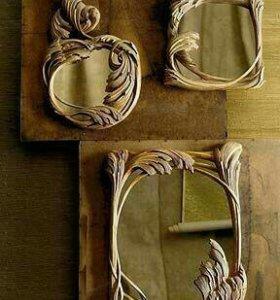 Зеркало в резной рамке