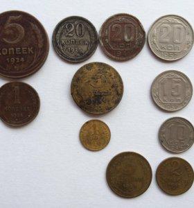 Монеты СССР 1924-1957 годов