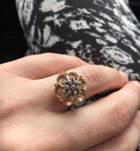 """Кольцо с бриллиантами """"Брызги Шампанского"""""""