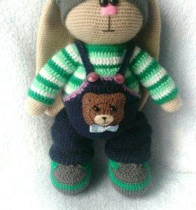 Вязаные игрушки (заяц)