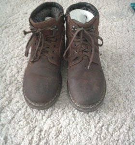 Зимние ботинки натуральный нубук