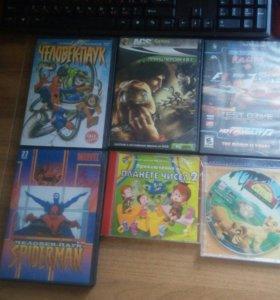 Диски с играми и мультфильмами