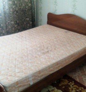 2-х спальная кровать с матрасом