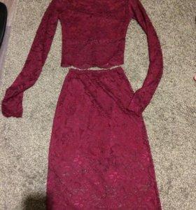 Комплект, юбка и топ