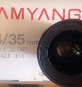 Объектив Samyang 35mm f/1.4 ED AS UMC AE Canon EF