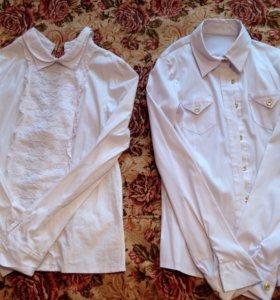 Белые блузки для девочек от 140 до 164 см