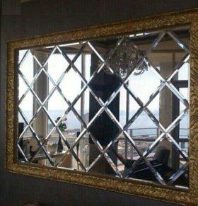 Зеркальные панно, плитка