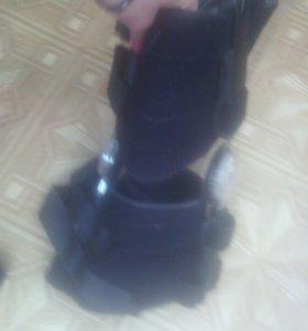 Ортез на коленный сустав с регулятором объём движения HKS-303 биомеханическим шарниром - HKS-375