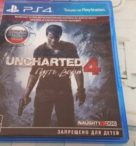 Видеоигра для PS4 Медиа Uncharted 4:Путь вора