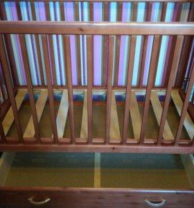 Детская кроватка Счастливый малыш Дюймовочка.