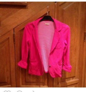 Трикотажный пиджак Zara розовый