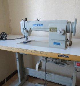 Беспосадочная швейная машина для тяжелых материалов PROTEX TY-3300 со столом