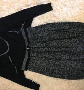 Платье-туника с кофточкой