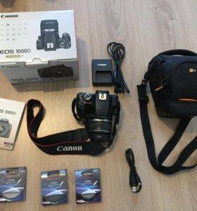 Зеркальный фотоаппарат Canon 1000d