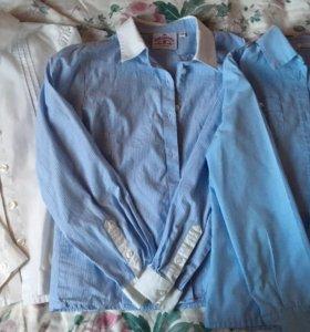 Рубашки 3 шт на девочку 9-10 лет