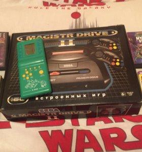 Приставка Sega Mega Drive (160 игр) + Тетрис