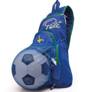 Рюкзак Пеле и футбольный мяч Пеле