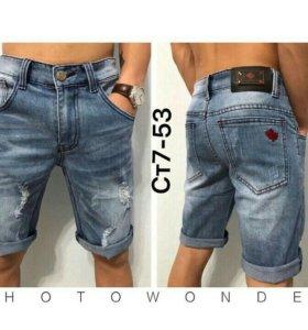Новые мужские джинсовые шорты