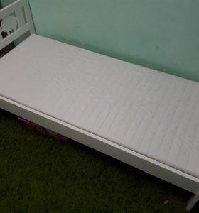 Кровать детская ИКЕА (белая)