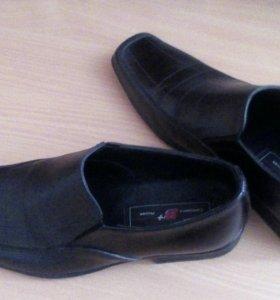 Мужские туфли,40 размер,натуральная кожа