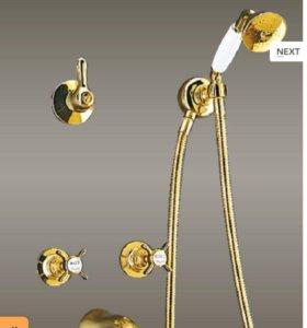 Новый смеситель для ванной из Италии (gold)