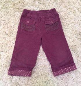 Вельветовые штанишки , 80 см