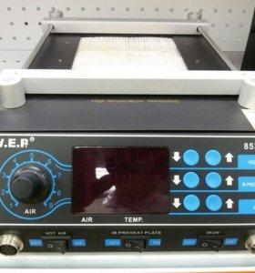 Станция паяльная W.E.P 853AAA фен+ нагреватель пла