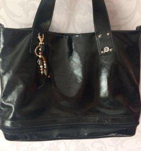 Лаковая сумка Gilda Tonelli