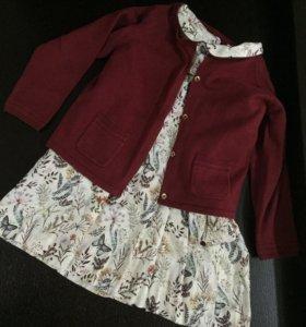 Платье и кардиган Zara, 98 р