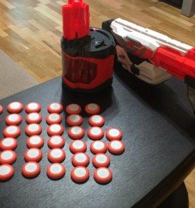 Бластер Nerf Vortex Pyragon с резиновыми пулями