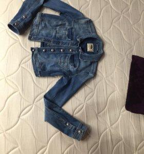 Джинсовая куртка хс-с размер