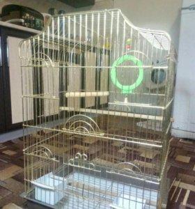 Большая клетка для попугая,домашних птиц