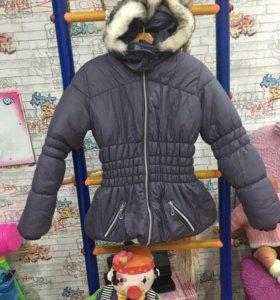 Тёплая куртка на девочку