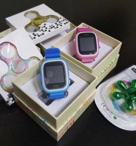 Детские умные часы Q90 + 🎁 Spinner