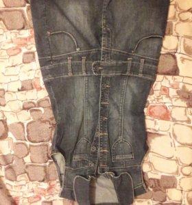 Платье и джинсовый сарафан