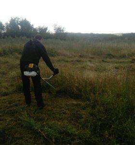 Покос травы, культивация земли