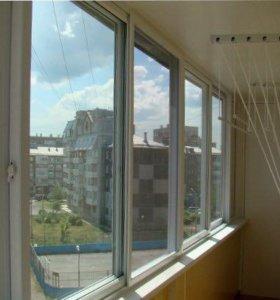 Металлопластиковые двери окна балконы витражи