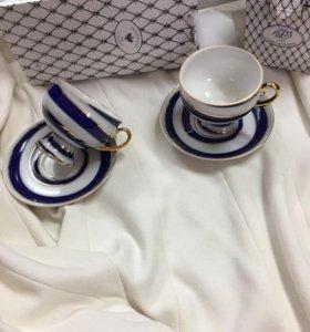 Чайная пара ЛФЗ императорский фарфоровый завод