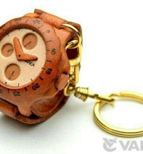 Кожаный брелок - Часы
